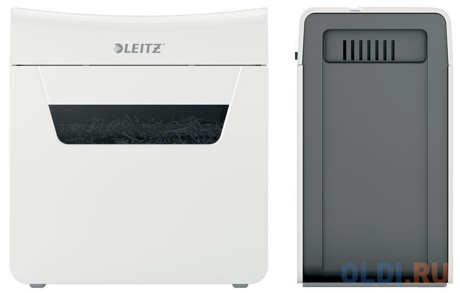 Шредер Leitz IQ PROTECT Premium 3M белый (секр.P-5)/фрагменты/3лист./10лтр./скрепки/скобы