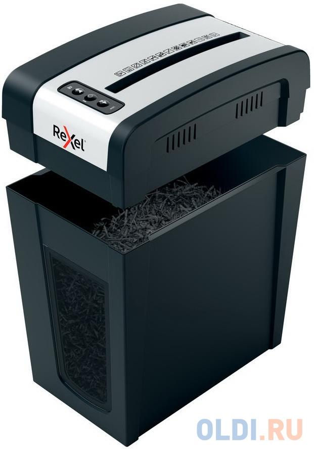Шредер Rexel Secure MC6-SL черный (секр.P-5)/перекрестный/6лист./18лтр./скрепки/скобы