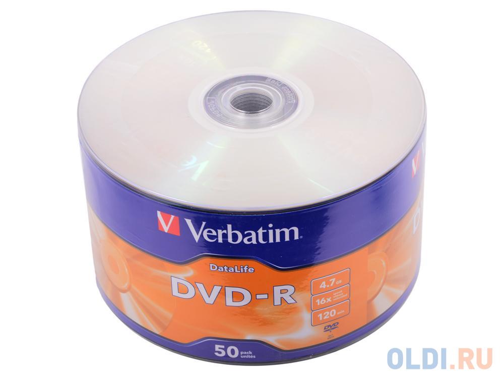Диски DVD-R 4,7GB Verbatim 16x Shrink/50 DataLife