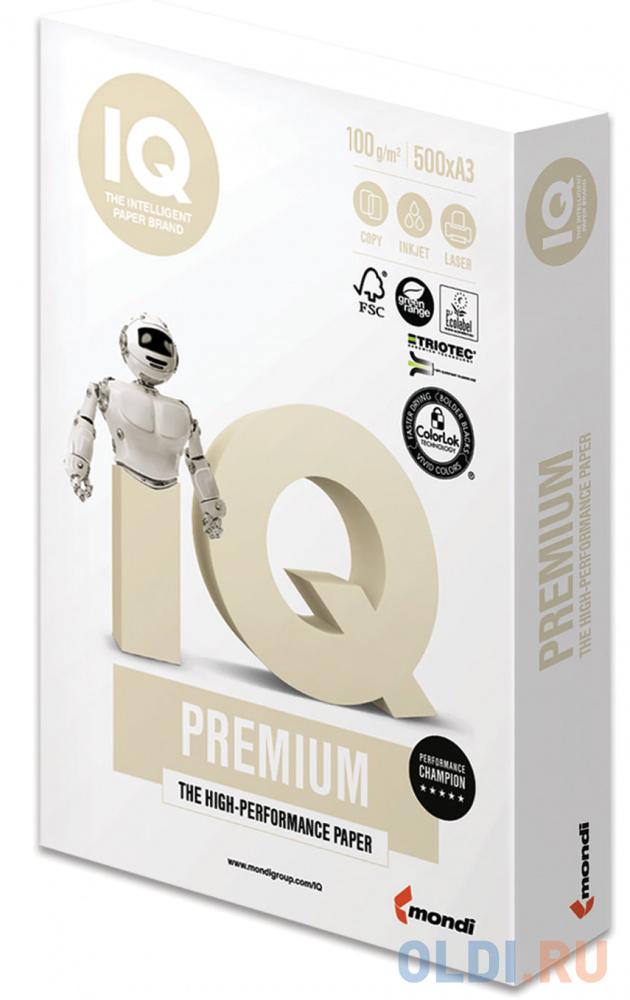 Фото - Бумага IQ PREMIUM, А3, 100 г/м2, 500 л., класс А, Австрия, белизна 170% (CIE) бумага iq premium а3 200 г м2 250 л класс а австрия белизна 170% cie