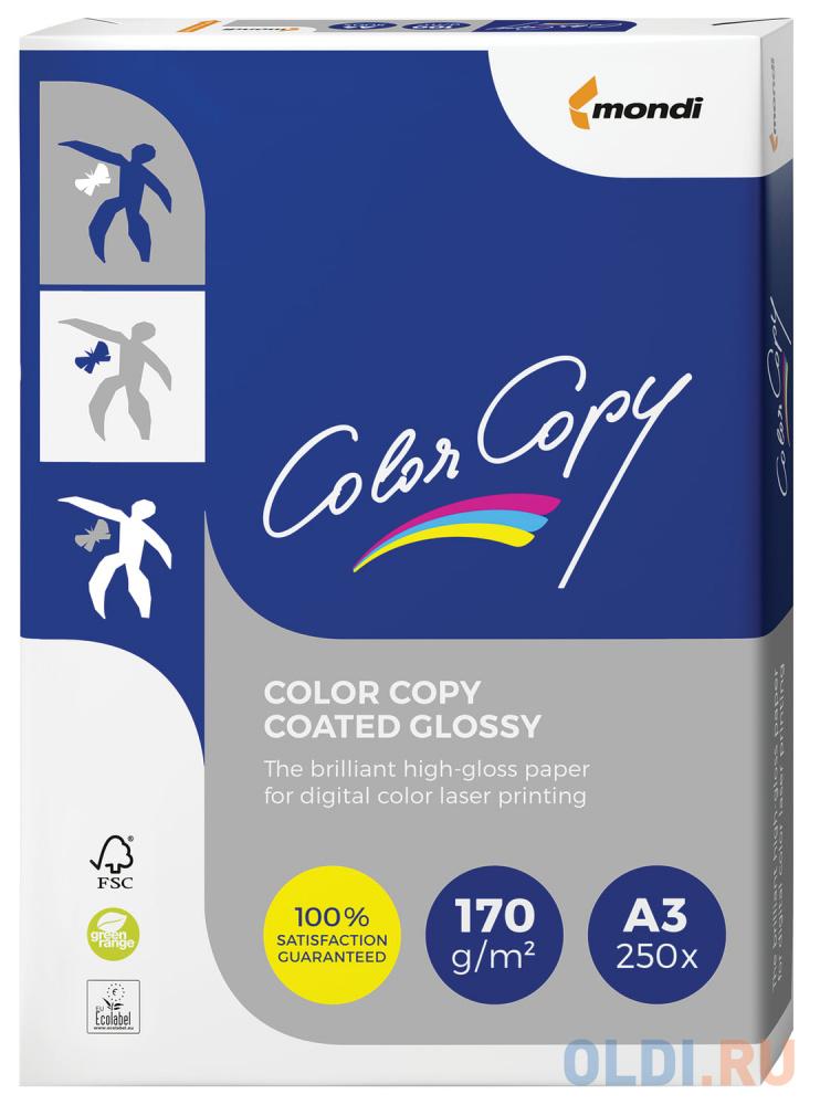 Фото - Бумага COLOR COPY GLOSSY, мелованная, глянцевая, А3, 170 г/м2, 250 л., для полноцветной лазерной печати, А++, Австрия, 138% (CIE) бумага iq premium а3 250 г м2 150 л класс а австрия белизна 170% cie