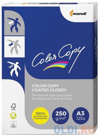 Фото - Бумага COLOR COPY GLOSSY, мелованная глянцевая, А3, 250 г/м2, 125 л., для полноцветной лазерной печати, А++, Австрия, 138% (CIE) бумага iq premium а3 250 г м2 150 л класс а австрия белизна 170% cie
