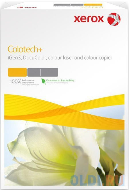Фото - Бумага Xerox Colotech Plus Gloss Coated А4 170г/м2 400л глянцевая 003R90342 xerox colotech plus gloss coated a4 003r90345