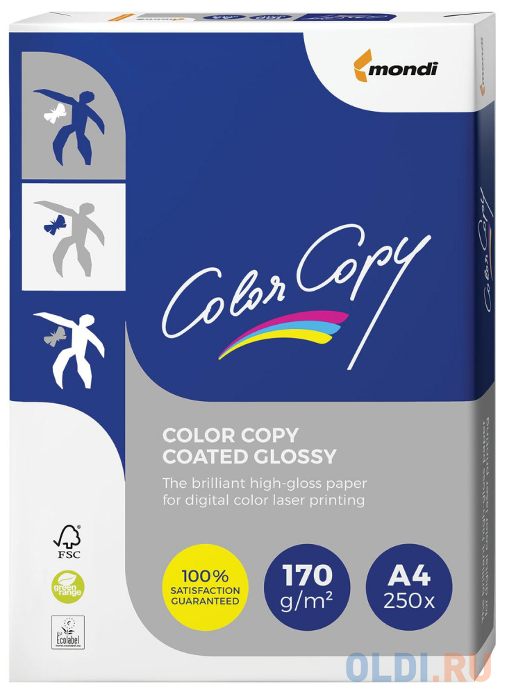 Фото - Бумага COLOR COPY GLOSSY, мелованная, глянцевая, А4, 170 г/м2, 250 л., для полноцветной лазерной печати, А++, Австрия, 138% (CIE) бумага color copy silk мелованная матовая а4 170 г м2 250 л для полноцветной лазерной печати а австрия 138% cie