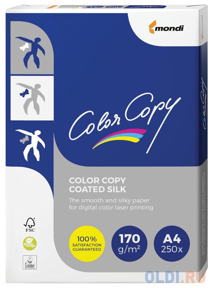 Фото - Бумага COLOR COPY SILK, мелованная, матовая, А4, 170 г/м2, 250 л., для полноцветной лазерной печати, А++, Австрия, 138% (CIE) бумага color copy silk мелованная матовая а4 170 г м2 250 л для полноцветной лазерной печати а австрия 138% cie