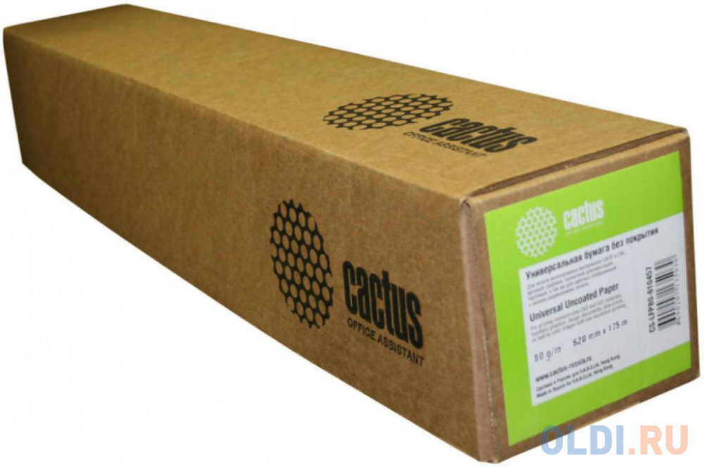 Фото - Бумага Cactus Eco CS-LFP80-610457E 610мм-45м 80г/м2 втулка 50.8мм бумага cactus cs lfp80 914457e 4 914мм х 45 7м 80г м2 белый втулка 50 8мм 4шт