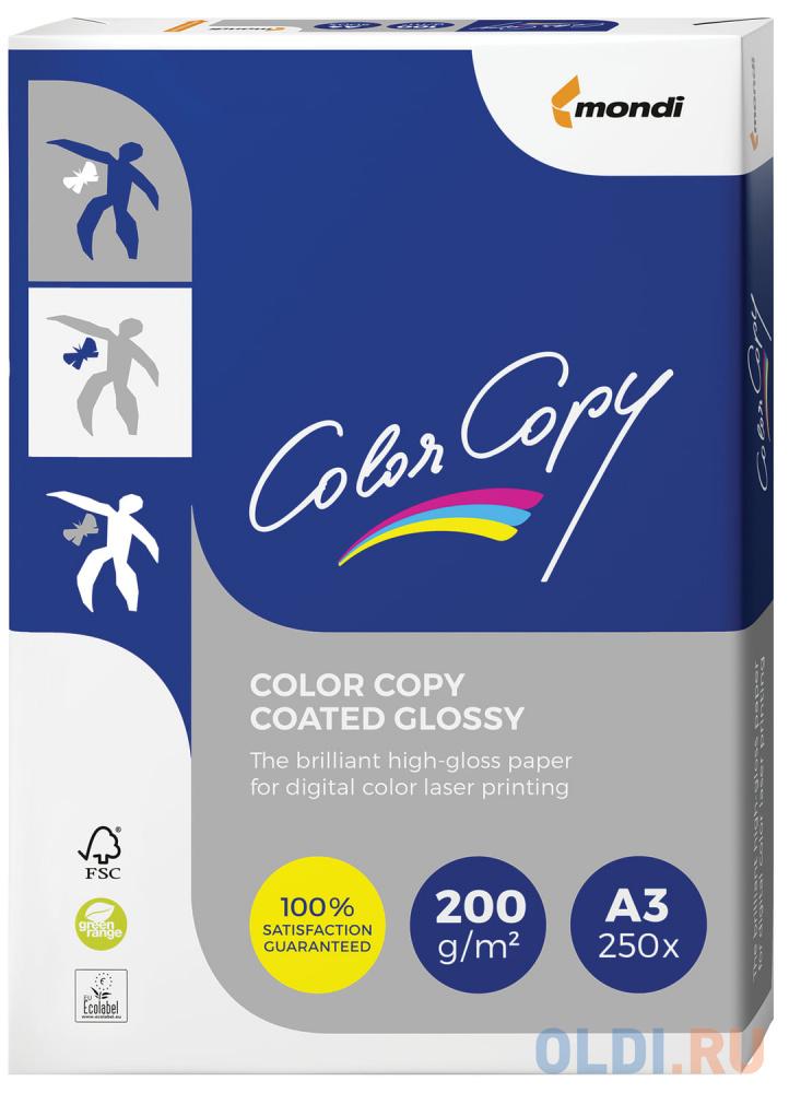 Фото - Бумага COLOR COPY GLOSSY, мелованная, глянцевая, А3, 200 г/м2, 250 л., для полноцветной лазерной печати, А++, Австрия, 138% (CIE) бумага iq premium а3 200 г м2 250 л класс а австрия белизна 170% cie