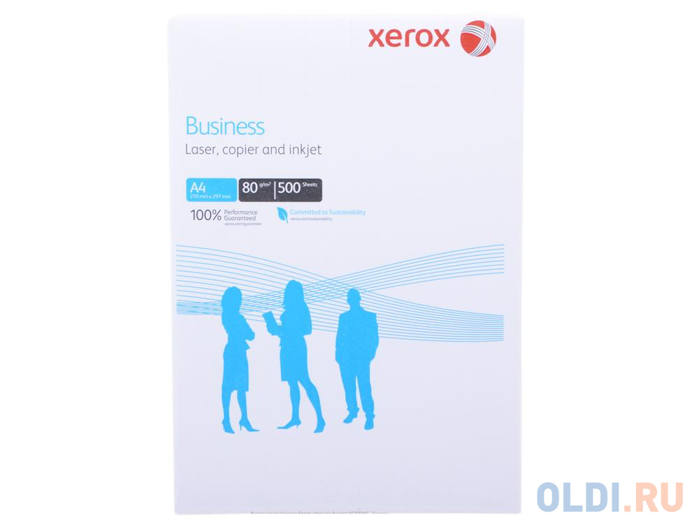 Бумага в листах белая офисная Xerox Business A4, 80 г/м2, 500л. 003R91820 бумага xerox business а3 80 г кв м пачка 500л 003r91821