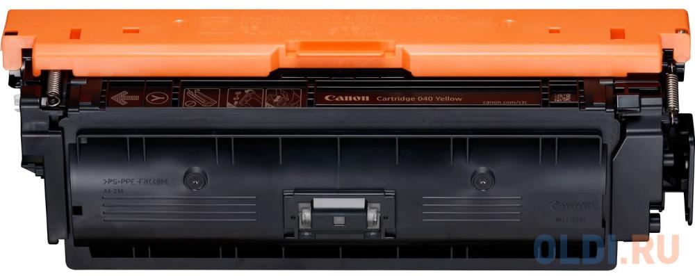 Картридж Canon 040 Y для принтеров i-SENSYS LBP712Cx, LBP710Cx. Жёлтый. 5400 страниц картридж canon 040 h m для canon i sensys lbp712cx lbp710cx пурпурный 10000стр