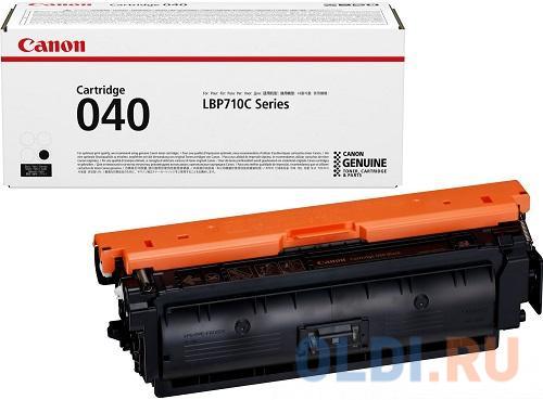 Картридж Canon 040 Bk для принтеров i-SENSYS LBP712Cx, LBP710Cx. Чёрный. 6300 страниц картридж canon 040 h m для canon i sensys lbp712cx lbp710cx пурпурный 10000стр