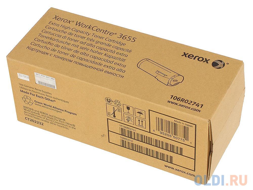 Картридж Xerox 106R02741 для WС 3655 черный 25900стр картридж xerox 106r02741 для xerox wc 3655 черный