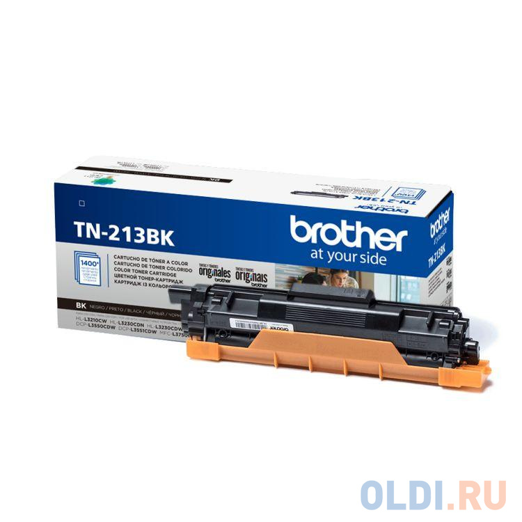 Тонер-картридж Brother TN213BK черный, для Brother HL-3230/DCP-3550/MFC-3770 (1400стр.)