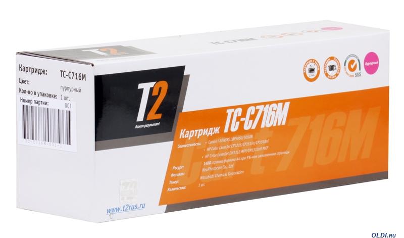 Картридж T2 TC-C716M для HP LaserJet CP1215 CP1515n CP1518ni i-SENSYS LBP5050 5050N 7000стр пурпурный