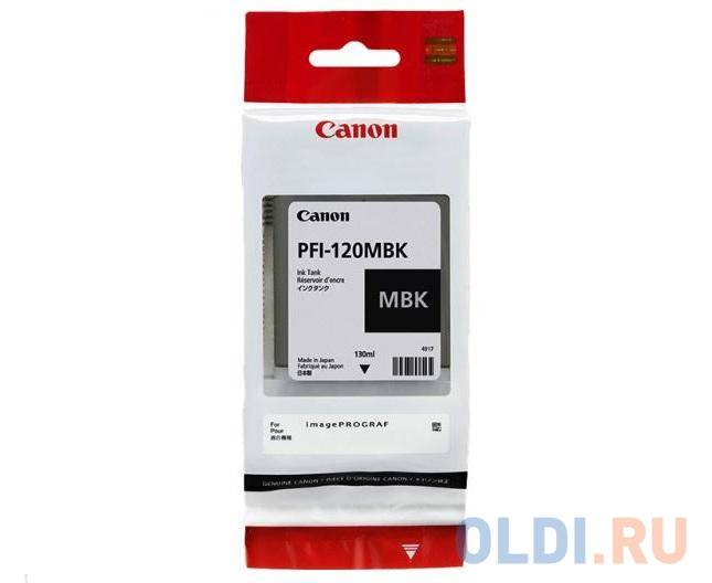 Картридж Canon PFI-120 Matte Black для TM-200/TM-205/TM-300/TM-305, Матовый чёрный.130 мл в м павлоцкий контрольные работы по английскому языку учебное пособие для учащихся iv класса