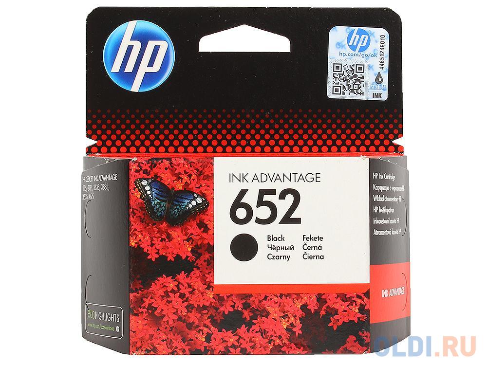 Картридж HP F6V25AE BHK для Deskjet Ink Advantage 1115/2135/3635/3775. Чёрный. 360 страниц. (HP 652)