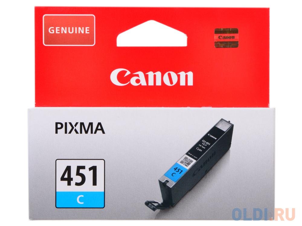 Картридж Canon CLI-451C для iP7240 MG5440 голубой