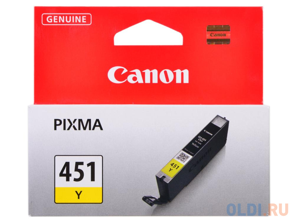Картридж Canon CLI-451Y для iP7240 MG5440 желтый