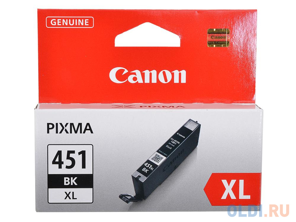 Фото - Картридж Canon CLI-451BK XL для MG6340, MG5440, IP7240 . Чёрный. 4425 страниц. картридж canon cli 451m xl для mg6340 mg5440 ip7240 пурпурный 660 страниц