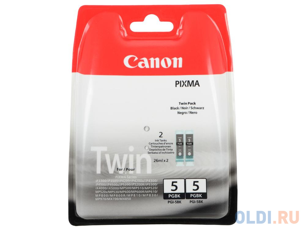 Картридж Canon PGI-5Bk PGI-5Bk 505стр Черный