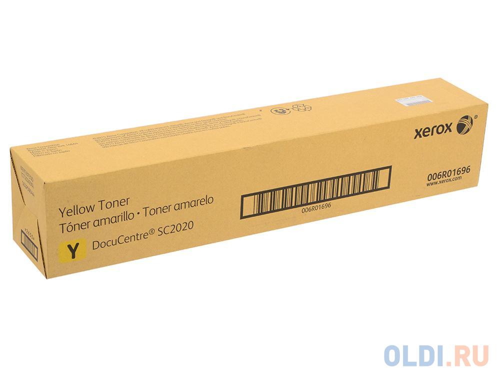 Тонер-картридж Xerox 006R01696 для Phaser SC2020. Жёлтый. 3000 страниц.