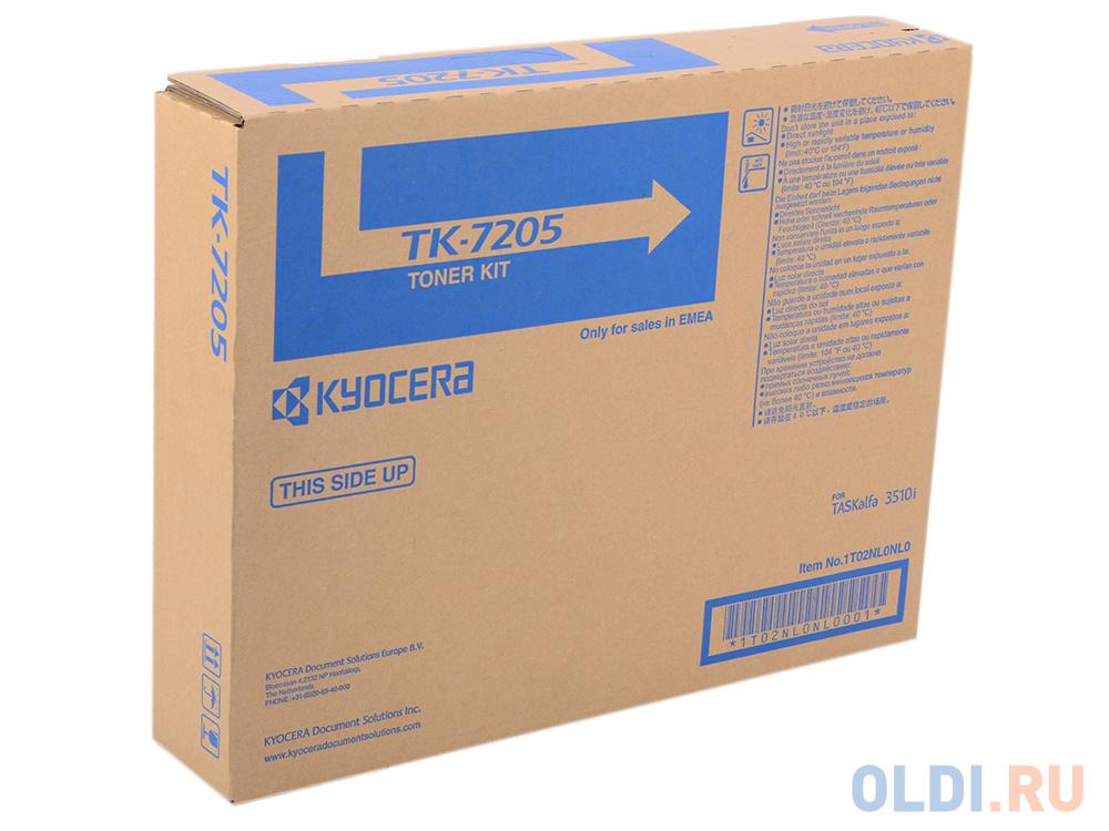 Картридж Kyocera Mita TK-7205 для Kyocera TASKalfa 3510i 35000 Черный TK-7205 1T02NL0NL0 картридж kyocera tk 435 1t02kh0nl0