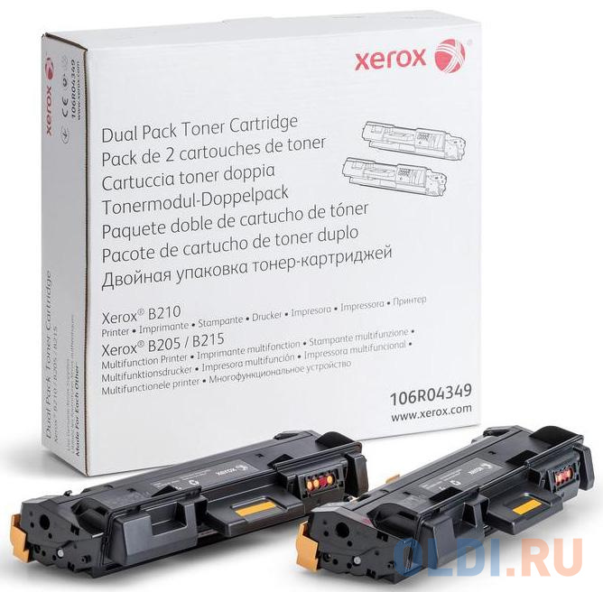 Тонер-картридж Xerox 24013 3000стр Черный