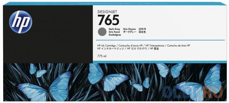 Картридж HP F9J54A №765 для HP Designjet T7200 темно-серый 775мл