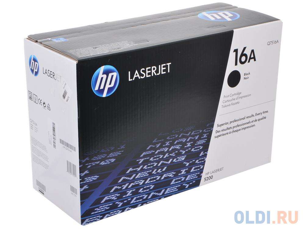 Картридж HP Q7516A Q7516A Q7516A Q7516A Q7516A Q7516A Q7516A 12000стр Черный