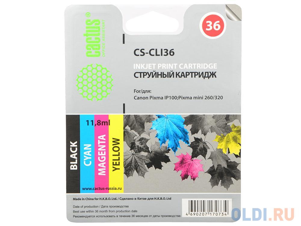 Картридж CACTUS CS-CLI36 для Canon Pixma 260 цветной 250стр