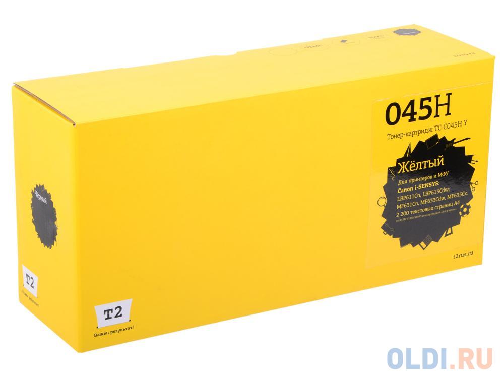 Фото - Картридж T2 TC-C045HY (аналог Canon 045H Y) для Canon i-SENSYS LBP611Cn/613Cdw/MF631Cn/633Cdw/635Cx (2200 стр.) Желтый, с чипом наглазник jjc ec 5 аналог canon eyecup eg