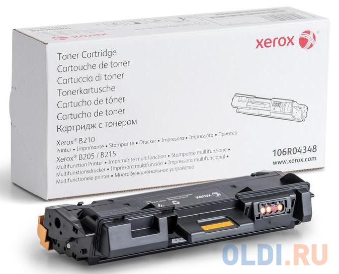 Тонер-картридж Xerox 106R04348 для B205/B210/B215. Чёрный. 1500 страниц.