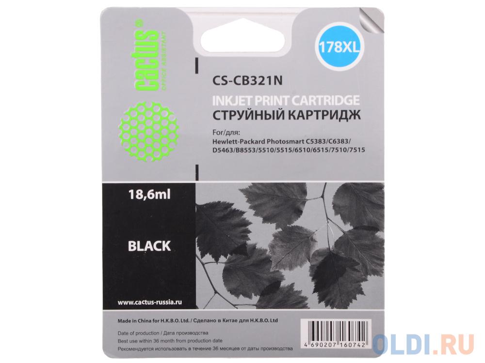 Картридж Cactus CS-CB321N №178XLN для HP PhotoSmart B8553/C5383/C6383/D5463 черный фото