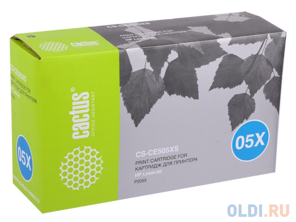 Фото - Картридж Cactus CS-CE505X (CS-CE505XS) для HP LJ2055 черный 6500стр картридж cactus cs ce505xs совместимый