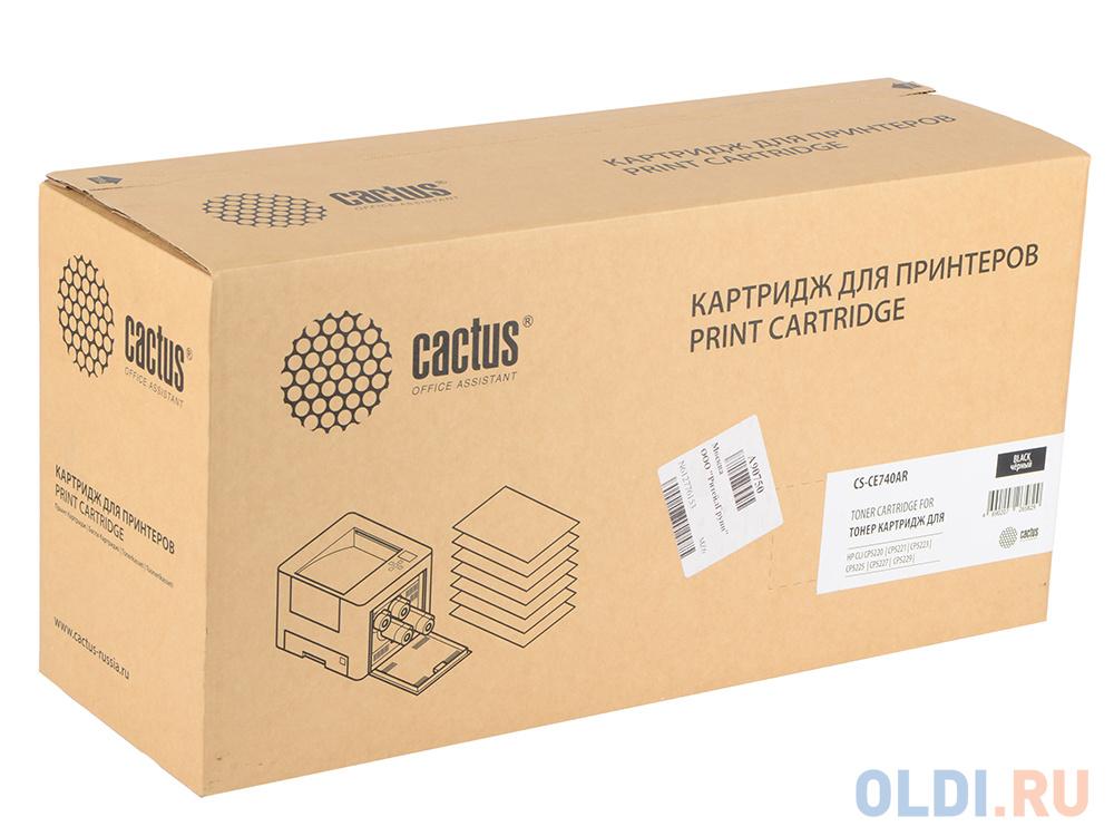 Тонер Картридж Cactus CS-CE740AR черный для HP LJ Pro CP5220/CP5221/CP5223 (7000стр.) картридж cactus cs tk5140k черный black 7000стр