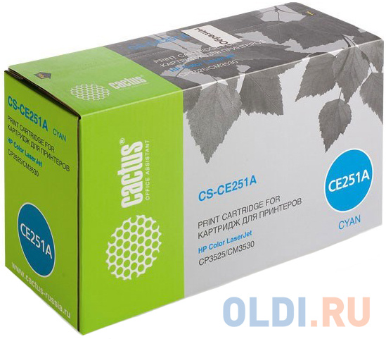 Картридж Cactus CS-CE251AR для HP CLJ CP3525/CM3530 голубой 7000стр картридж cactus cs tk5140k черный black 7000стр