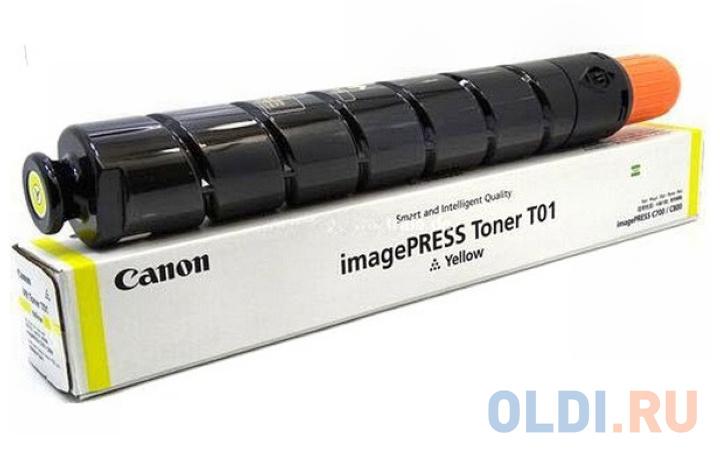Тонер Canon T01 Y 8069B001 желтый туба 1040гр. для копира IPC800.