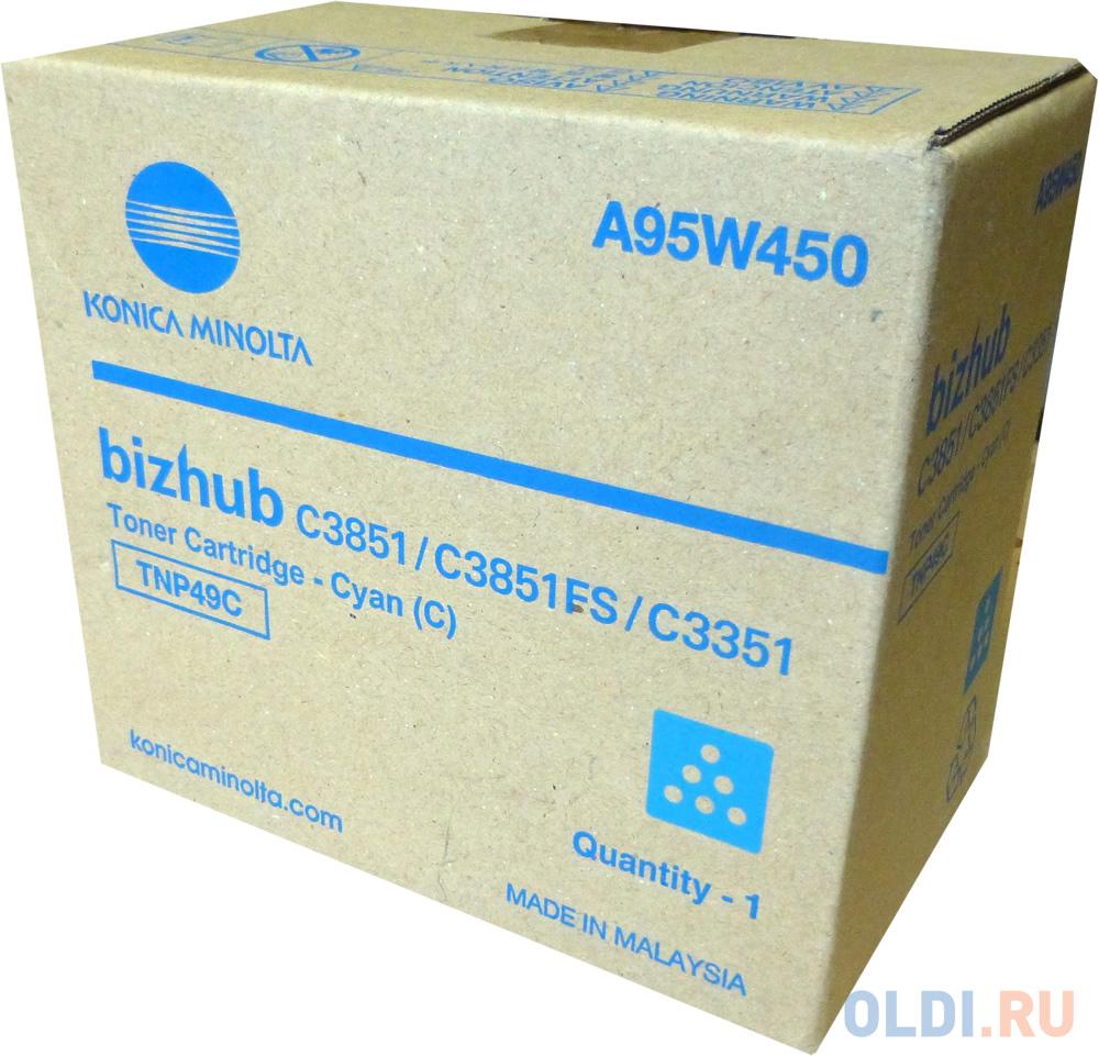 Тонер Konica-Minolta bizhub C3351/C3851 синий TNP-49C
