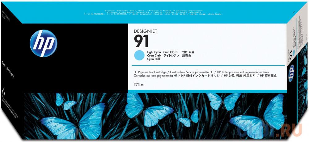 Фото - Картридж HP C9470A №91 для HP DJ Z6100 светло-голубой картридж hp c9485a 91 для hp dj z6100 желтый 3шт