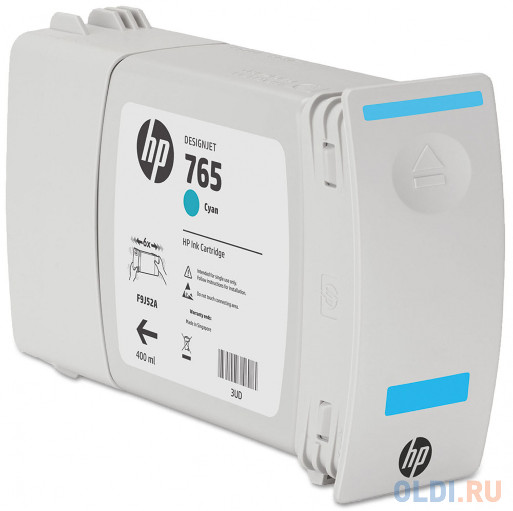 Картридж HP F9J52A №765 для HP Designjet T7200 голубой 400мл картридж hp 765 желтый [f9j50a]