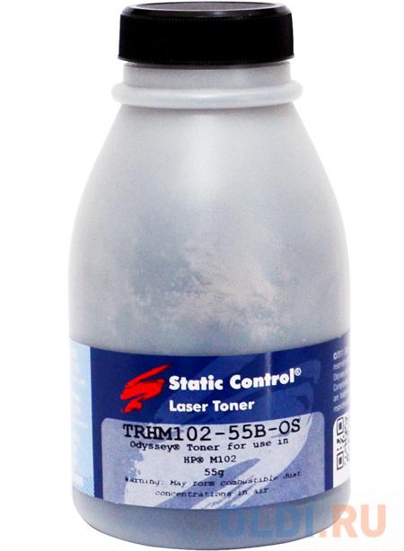Тонер Static Control TRHM102-55B-OS черный флакон 55гр. для принтера HP LJ M104/M132 тонер static control trhm102 1kg os черный флакон 1000гр для принтера hp lj m104 m132