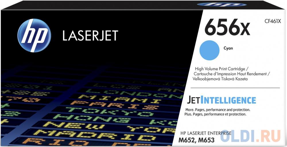 Картридж HP 656X CF461X для HP Color LaserJet Enterprise M652dn M652n M653dn M653x голубой