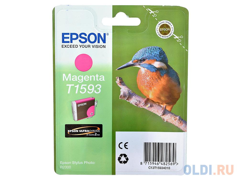 Картридж Epson C13T15934010 для Epson Stylus Photo R2000 пурпурный фото
