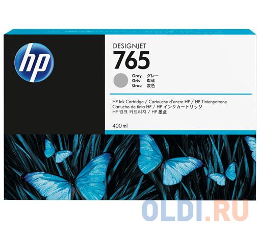 Картридж HP F9J53A №765 для HP Designjet T7200 серый 400мл картридж hp 765 желтый [f9j50a]
