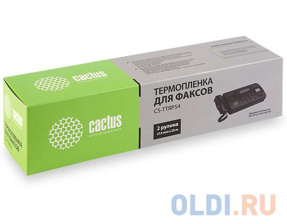 Термопленка CACTUS CS-TTRP54 для факсов Panasonic (KXF-A54) KX-FP141/143/145/148 2шт фото