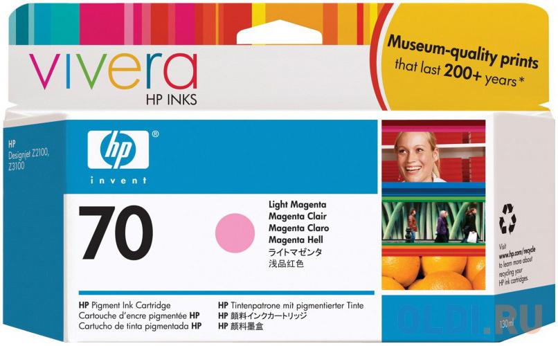Картридж HP C9455A №70 для HP DJ Z2100 Z3100 светло-пурпурный картридж hp 70 светло пурпурный [c9455a]