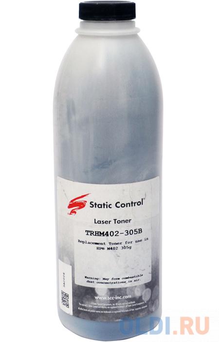 Тонер Static Control TRHM402-305B черный флакон 305гр. для принтера HP LJ M402/M426 тонер static control trh1505os3 10kg черный флакон 10000гр для принтера hp ljp1505 m1120 m1522n