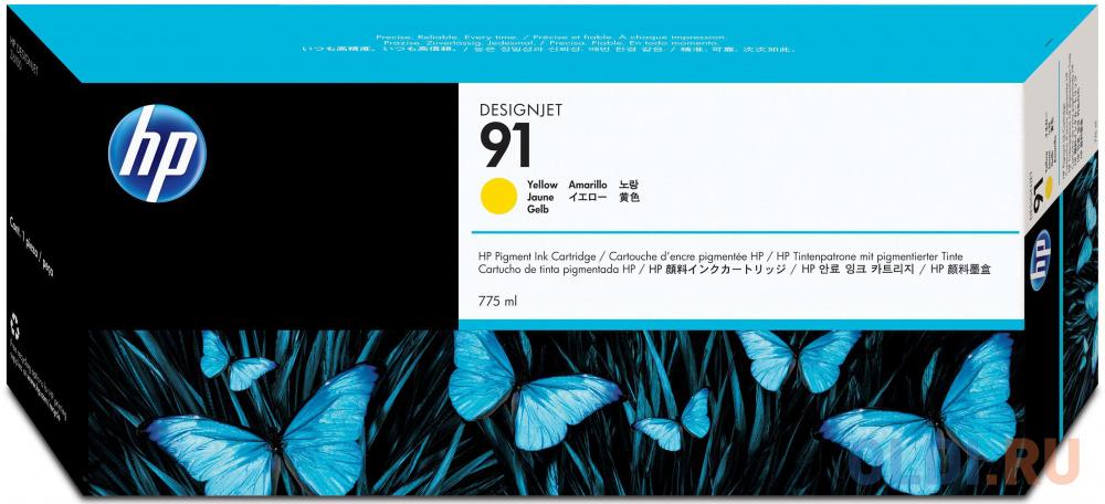Фото - Картридж HP C9469A №91 для HP DJ Z6100 желтый картридж hp c9485a 91 для hp dj z6100 желтый 3шт