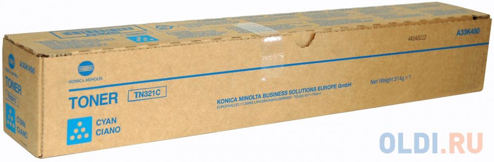 Тонер A33K450 Konica-Minolta bizhub C224/284/364 синий TN-321C тонер a33k250 konica minolta bizhub c224 284 364 желтый tn 321y