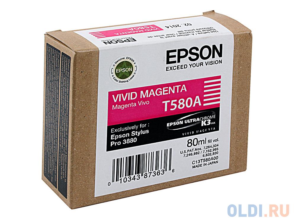 Картридж Epson C13T580A00 для Epson Stylus Pro 3880 Vivid Magenta недорого