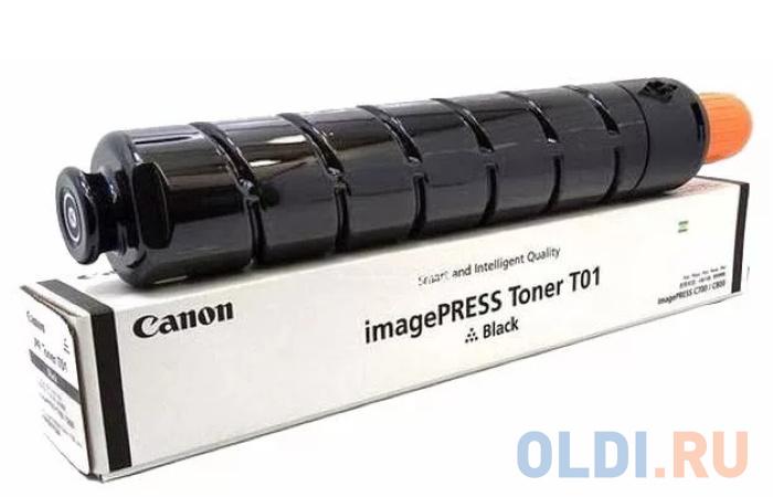 Тонер Canon T01 BK 8066B001 черный туба 1040гр. для копира IPC800.